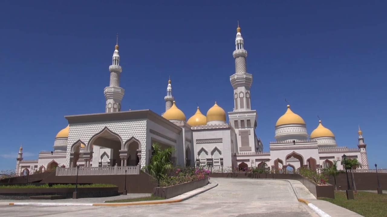 Die Philippinen im Video - Große Goldene Mosche in Cotabato in Mindanao