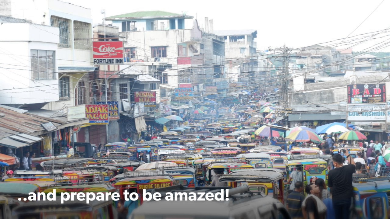 Die Philippinen im Video - Öffentlicher Markt von Bongao in Tawi-Tawi