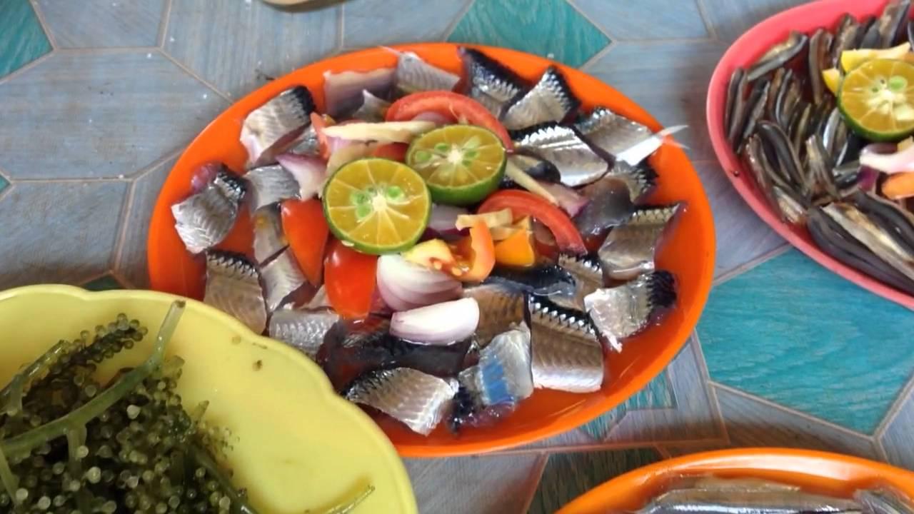 Die Philippinen im Video - Günstige Fisch- und Meeresfrüchtegerichte in Bohol auf dem Markt