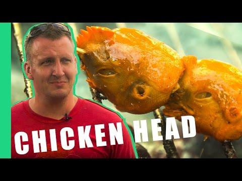 Die Philippinen im Video - Hühnerköpfe essen