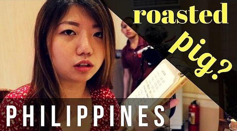 Die Philippinen im Video - Spanferkel essen in Cebu