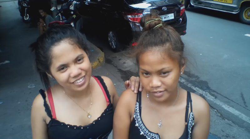 Die Philippinen im Video - Manila Wahnsinn - Zwillinge suchen Kunden auf der Strasse in Manila