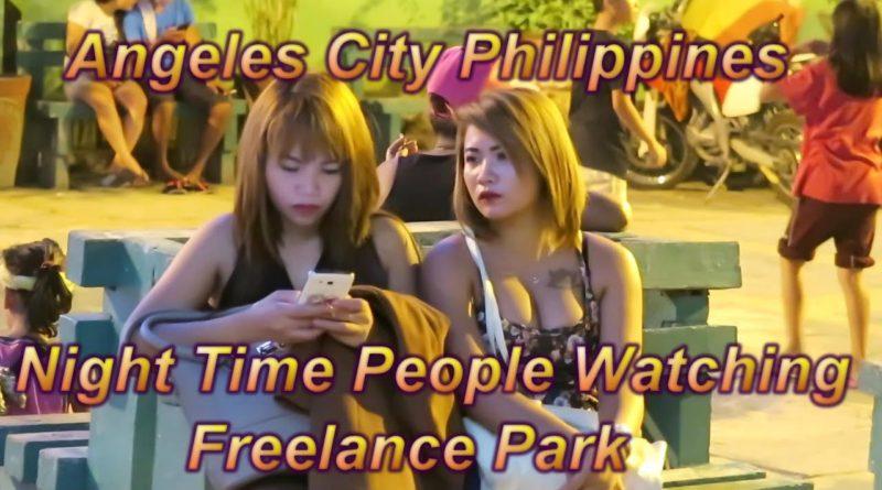 Die Philippinen im Video - Leute beobachten im Freelance Park von Angeles City