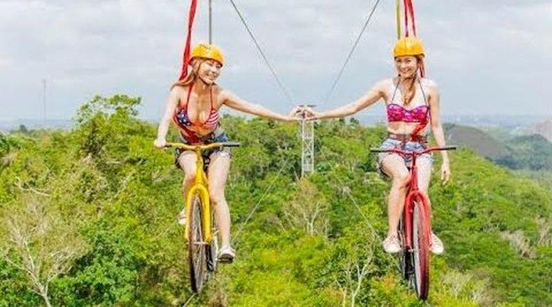 Die Philippinen im Video - Die erste Fahrrad-Zipline in Bohol im Adventure Park Bohol