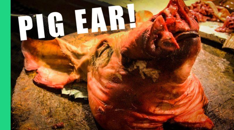 Die Philippinen im Video - Schweineohren (Walkman) als Streetfood essen