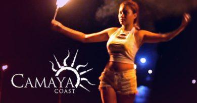 Die Philippinen im Video - Feuertänzer in Camaya Coast in Mariveles in Bataan