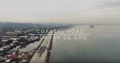 Die Philippinen im Video - Die Eröffnung der Küstenstrasse von Gusa bis zum Hafen und Agora in Lapasan von Cagayan de Oro