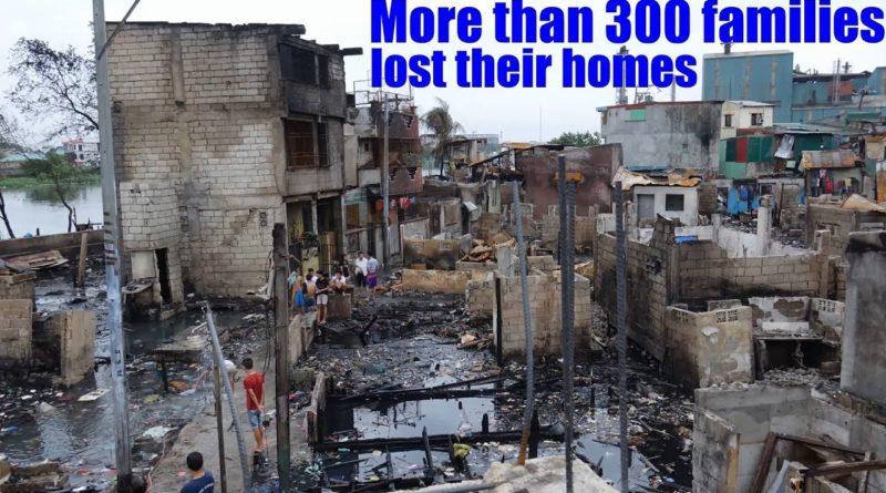 Die Philippinen im Video - Mehr als 300 Familien verloren Häuser durch Feuer in den Slums von Manila