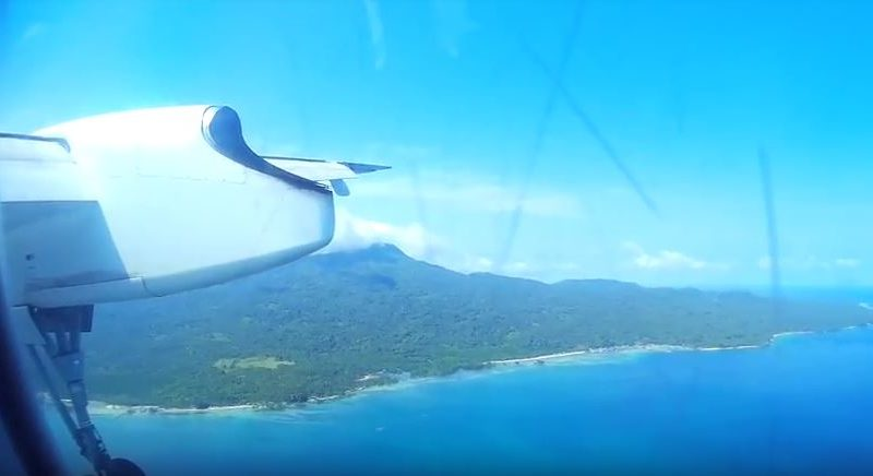Die Philippinen im Video - Landung mit einer Bombardier Dash 8 Q400 der Philippine Airlines in Jolo