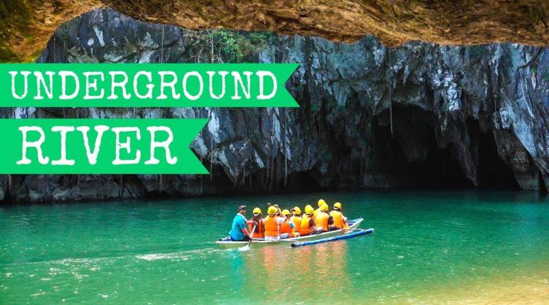 Die Philippinen im Video - Der unteriridische Fluss in Palawan mit der reisenden Gretl