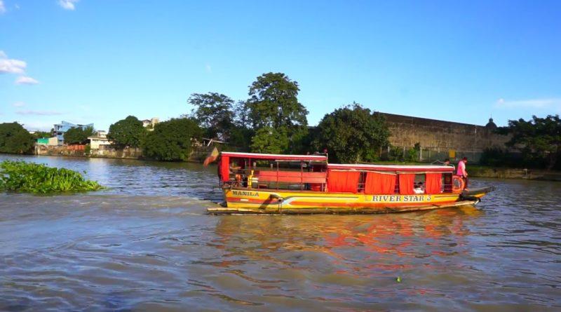 Die Philippinen im Video - Fahrt mit der Fähre auf dem Pasig Fluss in Manila