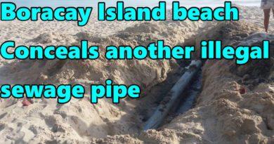 Die Philippinen im Video - Illegale Abwasserleitung am Strand von Boracay