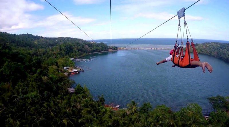 Die Philippinen im Video - Zipline über die Taguines Lagoon auf Camiguin