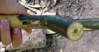 Die Philippinen im Video - Wie man ein Gewehr aus Bambus macht