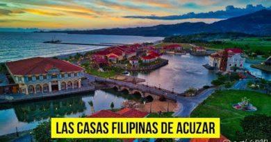 Die Philippinen im Video - Las Casas Filipina de Acuzar aus der Luft