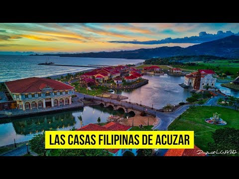 Die Philippinen im Video - Las Casas Filipina de Acuzar aus der Luft