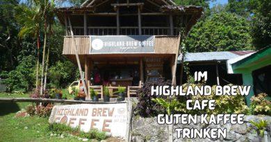 Die Philippinen im Video - Im HIGHLAND BREW CAFE guten Kaffee trinken Foto und Video von Sir Dieter Sokoll