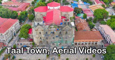 Die Philippinen im Video - Der Ort Taal von oben
