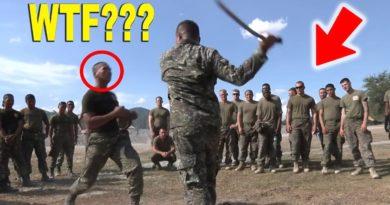 Die Philippinen im Video - Marines üben mit Messer und Schwert