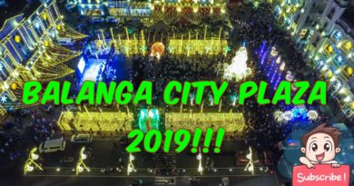 Die Philippinen im Video - Der Stadtplatz von Balanga Dezember 2019