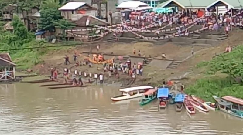 Bootsrennen auf dem Agusan in Talacogon