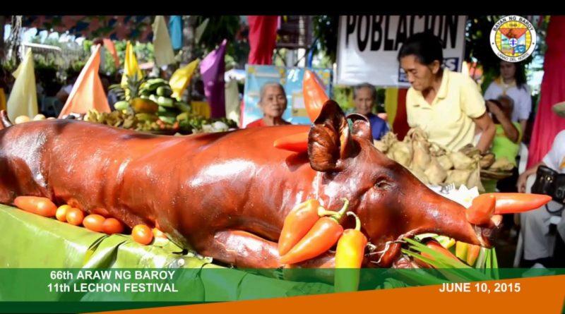 Die Philippinen im Video - Spanferkel Fest in Baroy