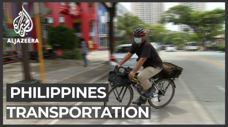 Die Philippinen im Video - Angestellte und Arbeiter steigen aufs Fahrrad in Manila