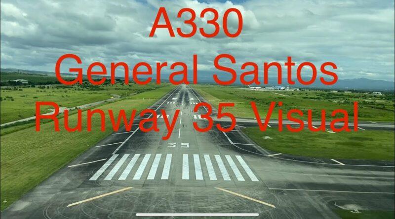 Die Philippinen im Video - Pilotensicht Landung auf dem General Santos Flughafen Runway 35