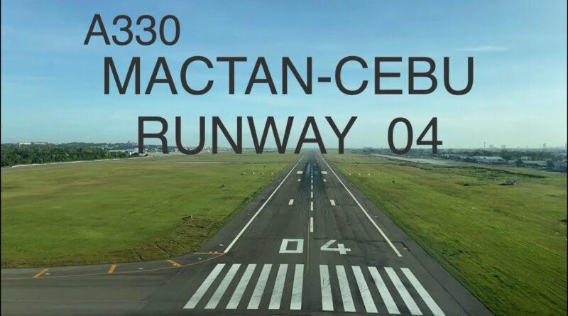 Die Philippinen im Video - Airbus A 330 Mactan Landebahn 04 - Landung von Cockpit
